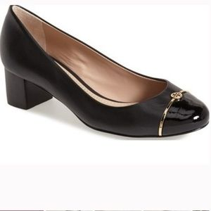 Tory Burch Pacey Leather Cap Toe Pumps 9.5